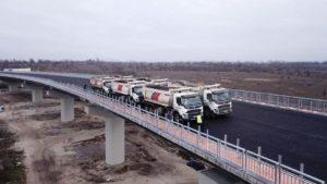 В Запорожье по новому мосту проехали 8 многотонных грузовиков: стали известны результаты испытаний, – ФОТОРЕПОРТАЖ