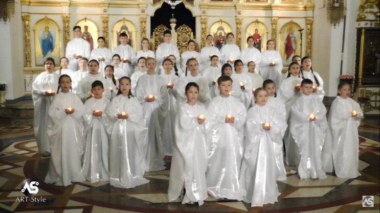 В Запорожье детский хор спел «Щедрик» в Свято-Покровском кафедральном соборе, – ВИДЕО