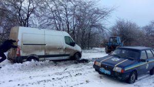 В снігу на Херсонщині застряг мешканець Запоріжжя