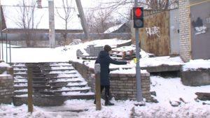 В Шевченківському районі облаштовують небезпечний пішохідний перехід