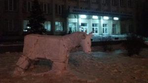В центрі Запоріжжя встановили фігуру цьогорічного символу року, — ФОТО