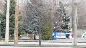 В центрі Запоріжжя дітлахи пошкодили декорації на новорічній ялинці, — ФОТО