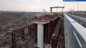 В Запорожье активно продолжается строительство второй половины моста с Хортицы на Бабурку: что уже сделано, – ФОТО