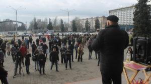 В центре Запорожья провели акцию против повышения тарифов на коммунальные услуги, – ФОТОРЕПОРТАЖ
