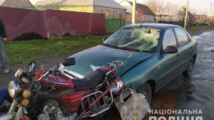 В Запорожской области пьяный водитель насмерть сбил пенсионера на мопеде, – ФОТО