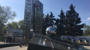 З пам'ятника чорнобильцям в Запоріжжі намагалися вкрасти металічні пластини, — ФОТО