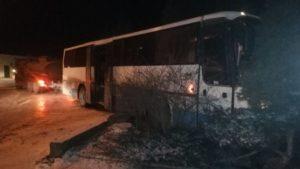В Запорожье автобус въехал в забор дома, – ФОТО