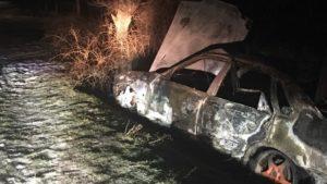 У Запорізькій області згорів автомобіль, – ФОТО