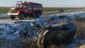 У Запорізькій області через негоду водіям трьох автомобілів знадобилася допомога рятувальників, – ФОТО