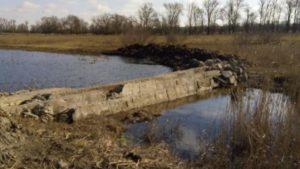 В нацпарке Запорожской области неизвестные перекрыли русло реки, соорудив дамбу, – ФОТО
