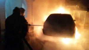 У Запорізькій області спалахнув легковий автомобіль Skoda, – ФОТО