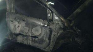 На Запоріжжі вранці вщент згорів автомобіль, – ФОТО