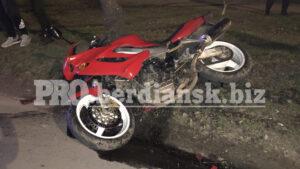 В Запорожской области произошло столкновение мотоцикла и легковушки: есть пострадавший, – ФОТО