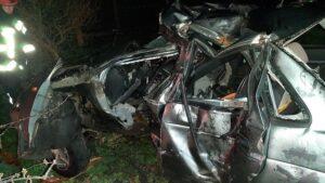 В Запорожской области водитель разбился в ДТП, убегая от патрульной полиции, - ФОТО