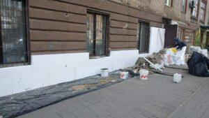 В історичному ареалі Запоріжжя без узгодження вирішили переобладнати фасад будинку, — ФОТО