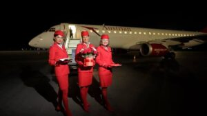 В запорізькому аеропорту вночі приземлився перший літак з Відня