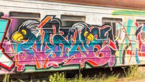 У Запоріжжі спортивну школу «Локомотив» прикрасили десятками графіті, – ФОТО