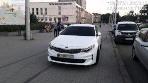 В Запорожье оштрафовали водителя с несуществующим номером автомобиля, — ФОТО