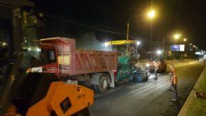 На Набережній і центральному проспекті Запоріжжя ночами ремонтують дорогу