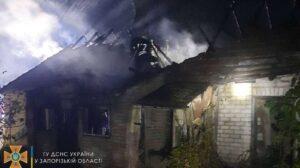 В Запорожском районе в частном доме произошел большой пожар: погиб человек, — ФОТО