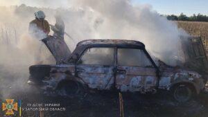 В Запорізькій області за добу палали три автомобілі
