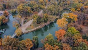 В сети появились захватывающие фото главного парка Запорожья с высоты